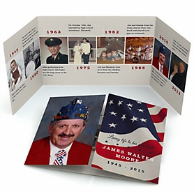American Flag - Gatefold Memorial Photo Card