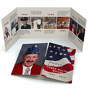 American Flag - Gatefold Memorial Photo Card