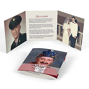 American Flag - Tri-fold Memorial Photo Card