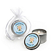 Angel Baby Boy - Personalized Baptism Candle Tin Favors