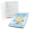 Angel Baby Boy - Baptism Fill In Invitations - 8 ct