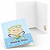 Angel Baby Boy - Baptism Thank You Cards - 8 ct