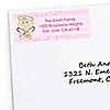 Angel Baby Girl - Personalized Baptism Return Address Labels - 30 ct