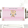 Angel Baby Girl - Personalized Baptism Placemats
