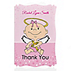 Angel Baby Girl - Personalized Baptism Thank You Cards