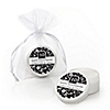 Modern Floral Black & White - Any Year - Personalized Wedding Anniversary Lip Balm Favors