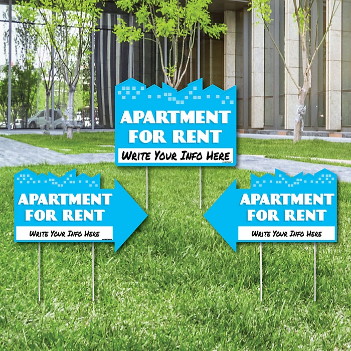 Apartment For Rent Signs: Yard Sign With Stakes