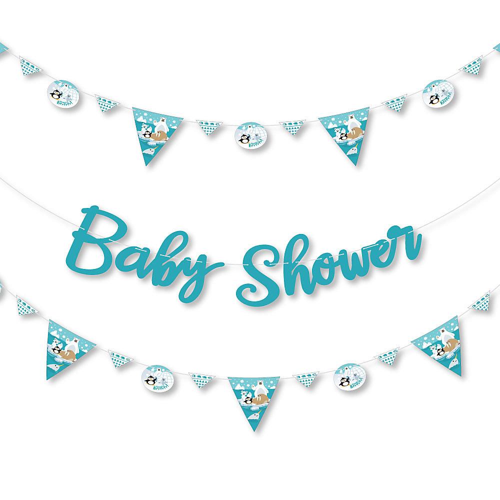 Arctic Polar Animals Winter Baby Shower Letter Banner Decoration