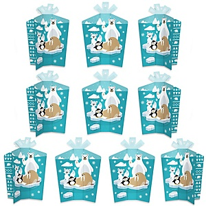 Arctic Polar Animals - Table Decorations - Winter Baby Shower or Birthday Party Fold and Flare Centerpieces - 10 Count