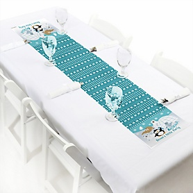 Arctic Polar Animals - Personalized Winter Baby Shower or Birthday Party Petite Table Runner