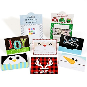 Assorted Holiday Cards - Set of 8 Christmas Money And Gift Card Holders