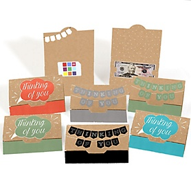 Assorted Thinking Of You Cards - Set of 8 Blank Thinking About You Money And Gift Card Holders