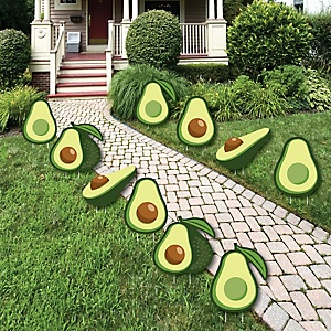 Hello Avocado - Lawn Decorations - Outdoor Fiesta Party Yard Decorations - 10 Piece
