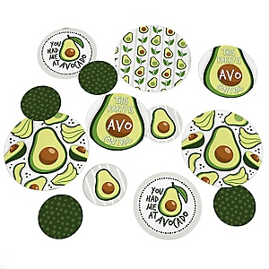 Hello Avocado - Fiesta Party Giant Circle Confetti - Party Decorations - Large Confetti 27 Count