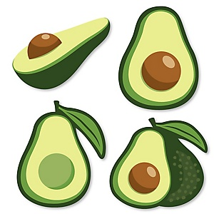 Hello Avocado - DIY Shaped Fiesta Party Cut-Outs - 24 ct
