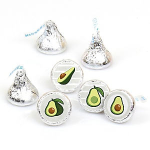 Hello Avocado - Fiesta Party Round Candy Sticker Favors - Labels Fit Hershey's Kisses - 108 ct