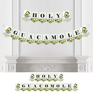 Hello Avocado - Fiesta Party Bunting Banner - Party Decorations - Holy Guacamole