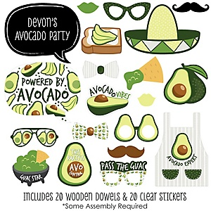 Hello Avocado - 20 Piece Fiesta Party Photo Booth Props Kit