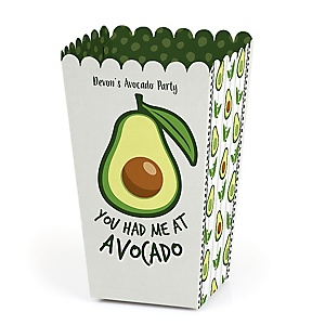 Hello Avocado - Personalized Fiesta Party Favor Popcorn Treat Boxes - Set of 12
