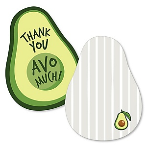 Hello Avocado - Shaped Thank You Cards - Fiesta Party Thank You Note Cards with Envelopes - Set of 12