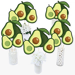Hello Avocado - Fiesta Party Centerpiece Sticks - Table Toppers - Set of 15
