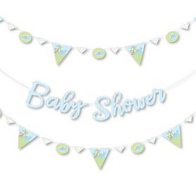 Baby Boy Dinosaur - Baby Shower Letter Banner Decoration - 36 Banner Cutouts and Baby Shower Banner Letters