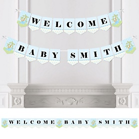 Baby Boy Dinosaur - Personalized Baby Shower Bunting Banner & Decorations