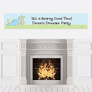 Baby Boy Dinosaur - Personalized Baby Shower Banners