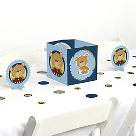 Baby Boy Teddy Bear - Baby Shower Centerpiece and Table Decoration Kit
