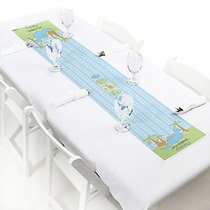 Baby Boy Dinosaur - Personalized Baby Shower Petite Table Runner