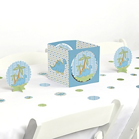 Baby Boy Dinosaur - Baby Shower or Birthday Party Centerpiece and Table Decoration Kit