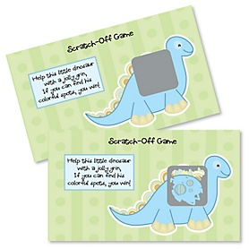 Baby Boy Dinosaur - Baby Shower Game Scratch Off Cards - 22 ct
