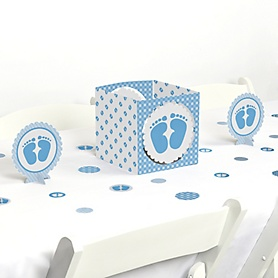 Baby Feet Blue - Boy Baby Shower Centerpiece and Table Decoration Kit