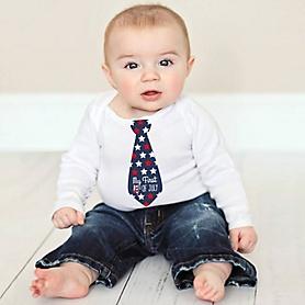 Tie Baby's First Holiday's Stickers - Baby Shower Gift Ideas - Necktie 8 Piece