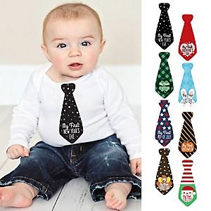 Baby's First Holidays Milestone Necktie Stickers - New Year's Eve
