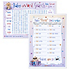 Baby Firsts Unscramble & Word Search - Baby Shower Game - 18 ct