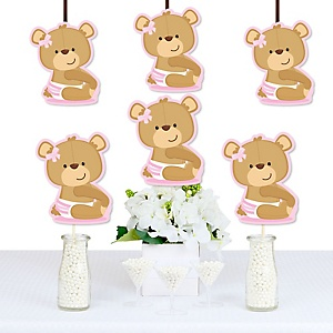Baby Girl Teddy Bear - Decorations DIY Baby Shower Party Essentials - Set of 20