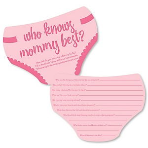 Baby Girl - Who Knows Mommy Best Cards - Pink Baby Shower Game - Set of 20
