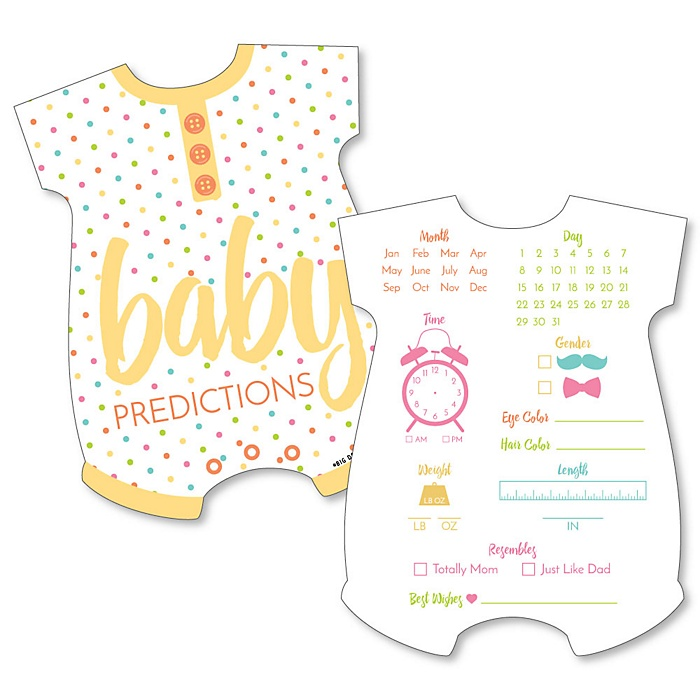 Baby Neutral - Baby Gender Prediction Cards - Baby Shower Game - Set of 20