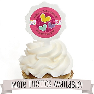 Baby Shower Cupcake Picks and Sticker Kit