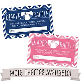 Baby Shower Diaper Raffle Cards