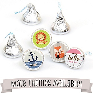 Baby Shower Round Candy Labels - Fits Hershey's Kisses