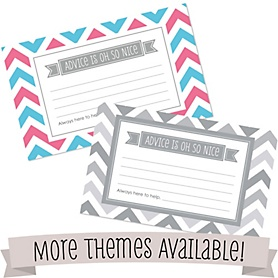Personalized Baby Shower Helpful Hint Advice Cards