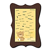 Baby Teddy Bear - Unique Alternative Guest Book - Baby Shower Signature Mat