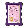 Baby Girl Teddy Bear - Unique Alternative Guest Book - Baby Shower Signature Mat