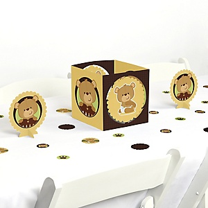 Baby Teddy Bear - Baby Shower Centerpiece and Table Decoration Kit