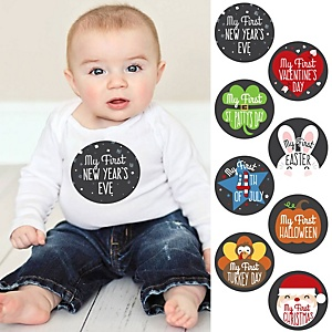 Baby's First Holidays Milestone Stickers - New Year's Eve