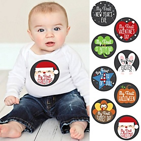 Baby's First Holidays Milestone Stickers - Christmas