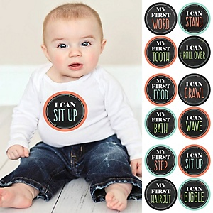 Baby's First Milestone Stickers - Set of 12