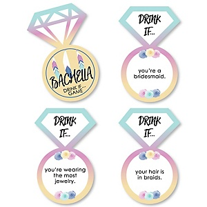 Drink If... Bachella - Palm Springs Boho Bachelorette Party Game - Set of 24